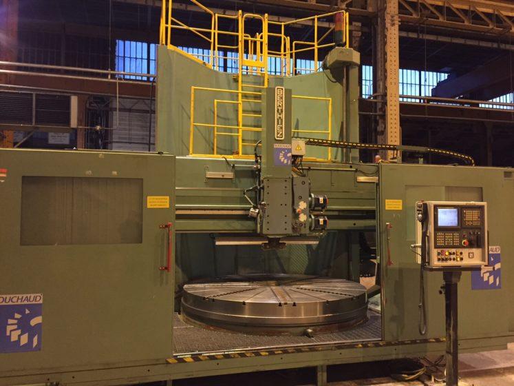 Berthiez TFM 250 CNC Ram Type Vertical Boring Machine - Shub